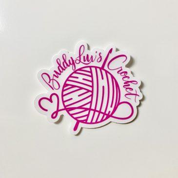 BuddyLuv's Crochet Logo Sticker